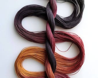 """Size 40 """"Knitty Gritty"""" hand dyed thread 6 cord cordonnet tatting crochet cotton"""