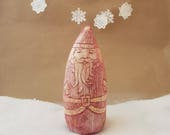 vintage inspired red and white santa figurine