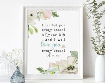 PRINTABLE Miscarriage Sympathy Gift Print - Digital Print -Instant Download Digital File-Infant Loss, Miscarriage Memorial-In Memory of Baby