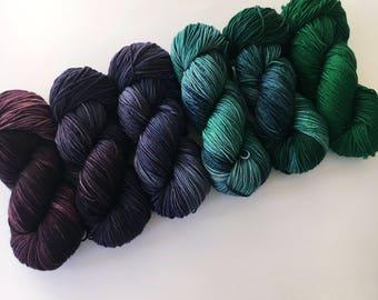 preorder JEWEL TONE Comfort Fade Cardi Kit Posh Worsted Merino Cashmere Nylon Yarn