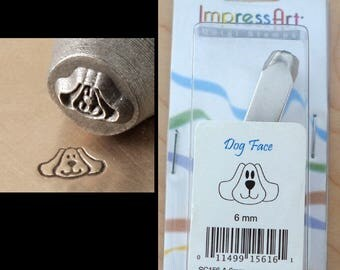 6mm Metal Stamp Tool- Dog Face Shelly Turtle Squeak Mouse Hopper Bunny Rabbit