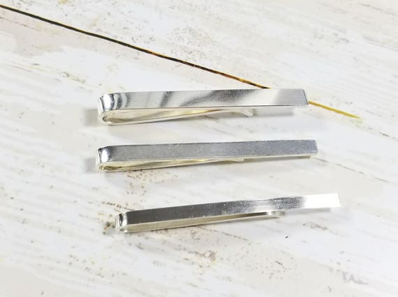 Polished Finish Sterling Silver Tie Bar or Tie Clip