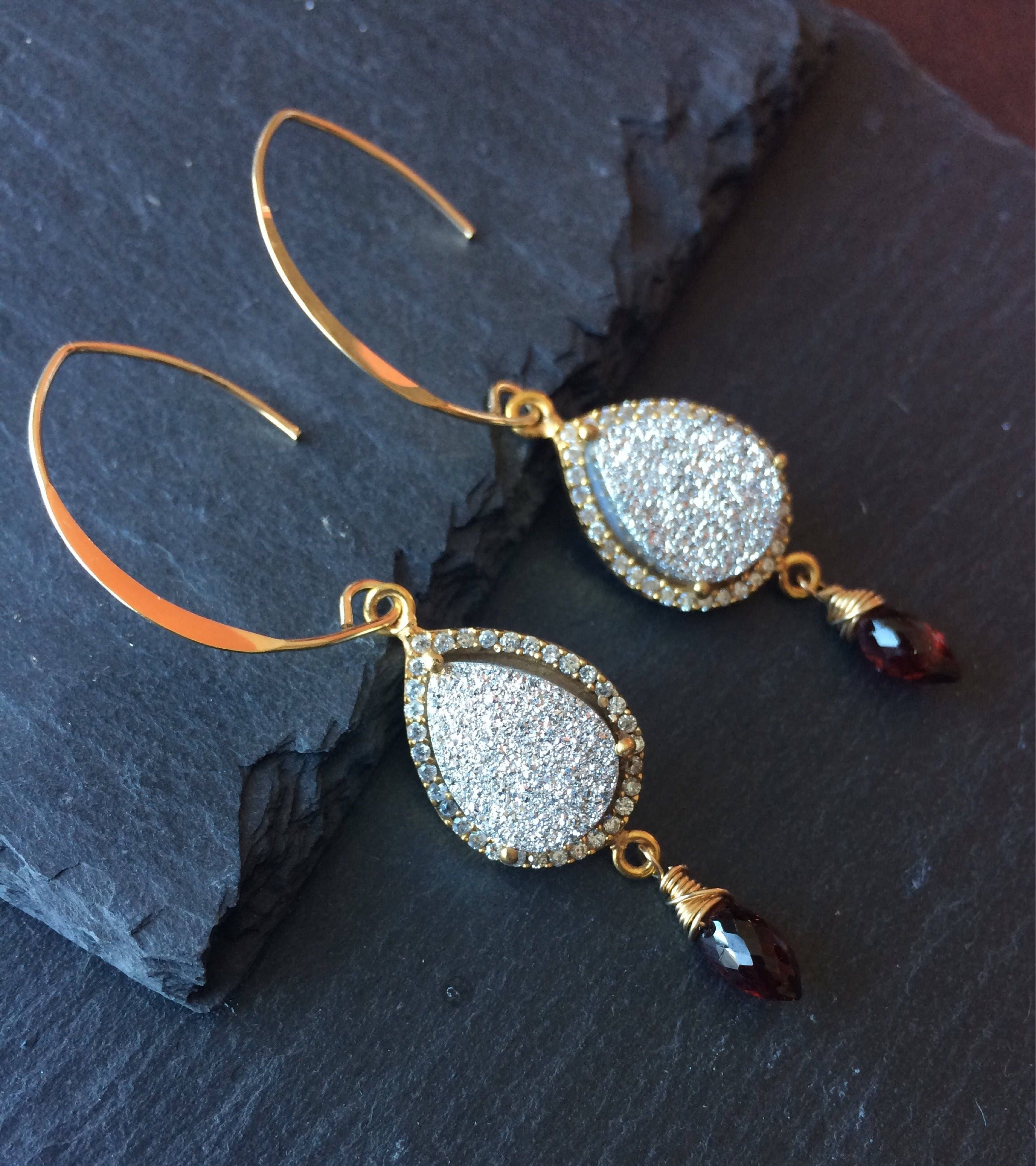 tw filled and gold wire char by twisted earrings elongated maassen labradorite shimmery cm drop