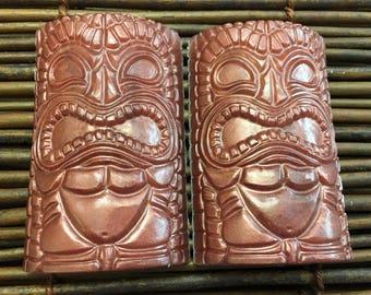 Tiki Soap, Polynesian Decor, Tropical Decor Soap, Vegan Soap, Hawaiian Soap,  Hawaiian Soap Vegan, Ocean Decor Soap,  Handmade Soap 2 Pack