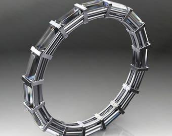 venus ring - east west ZAYA moissanite eternity band, baguette ring, 2.5 carats