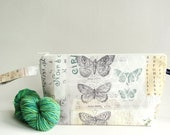 Wedge Bag, Shawl Project Size Knitting Bag, Wallflower Botanical