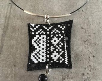 nordic knit pendant - on crew necklace - new collection