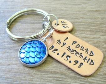 I Found My Mermaid Keychain, Mermaids Keychain, Scales, Lesbian Keychain, girlfriend gift, lesbian couple, hers and hers, lesbian valentine