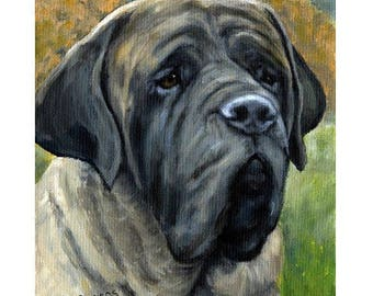 "CUSTOM for Margaret 8x10"" Mastiff Dog Art Print and Irish wolfhound print of Original Paintings by Dottie Dracos"