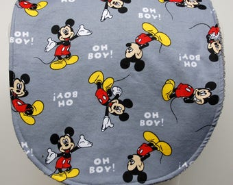 Youth/Junior Unisex Bib, Special Needs, Cerebral Palsy, Drooling, Epilepsy, Seizure, 14-inch neck opening:  Mickey Mouse - Oh Boy!