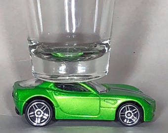 Hot Wheels, Classic Hot Rods, Shot Glass, Alfa Romeo 8c Competizione, Hot Wheel car