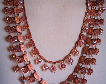 BLUSH statement necklace