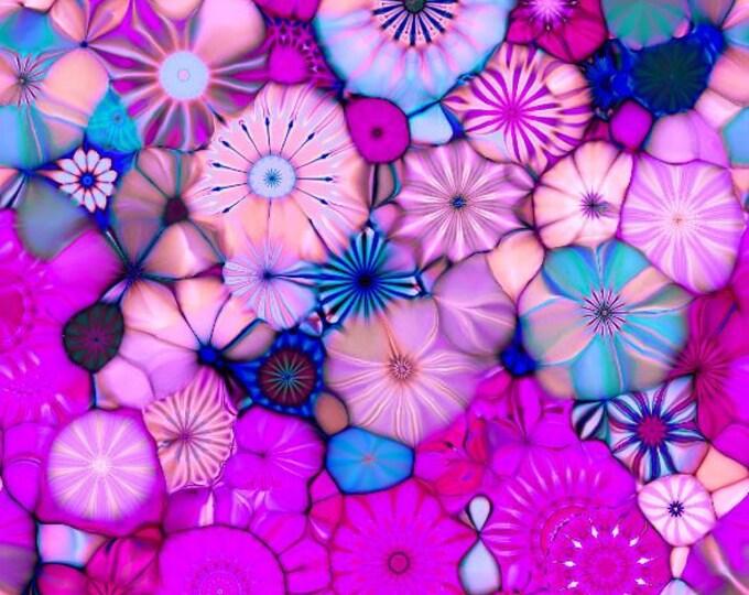 Featured listing image: Home Decor Canvas Fabric Twisting Threads Artisan Created Kaleidoscope Plum Purple  Upholstery