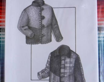 Pieced Jacket sewing pattern, misses sewing pattern xs s m l xl Uncut, independent Great Copy pattern/woman jacket pattern/patchwork pattern