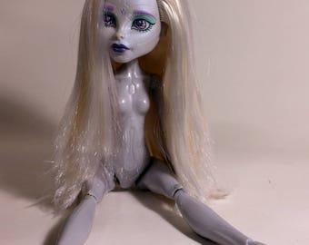 OOAK Custom rerooted Elle Eedee in Ice White