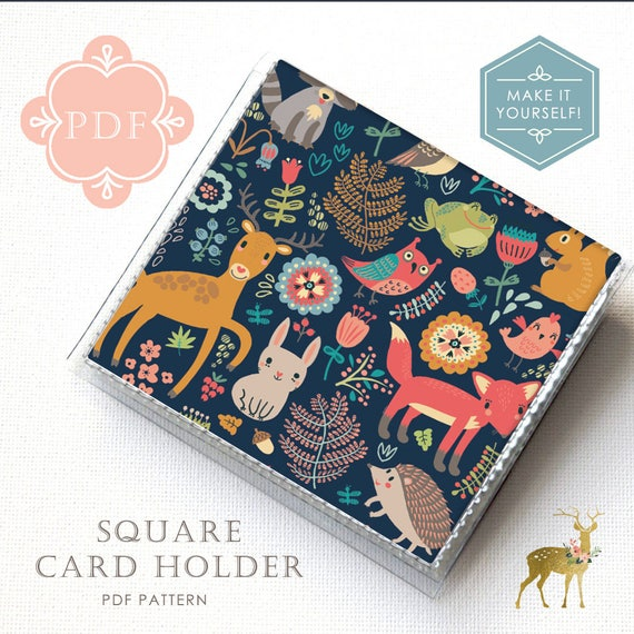 Square Card Holder Sewing Pattern PDF Vinyl And Paper