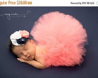 SUMMER SALE 20% OFF newborn tutu, baby tutu, newborn photography prop, coral tutu, pink tutu, newborn tutu, girls tutu, birthday tutu, cake
