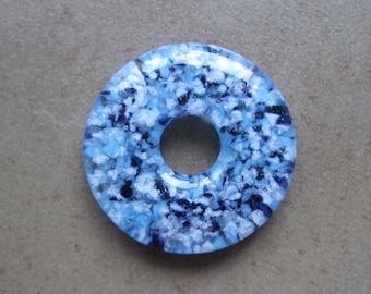 Lampwork Beads - SueBeads - Donut Beads - Glass Donut Beads - Lampwork Donut Beads - Round Donut Beads - Handmade Lampwork Beads - SRA M67