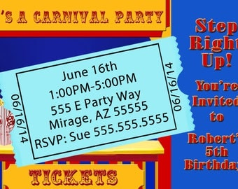 Carnival Invitation Digital Design