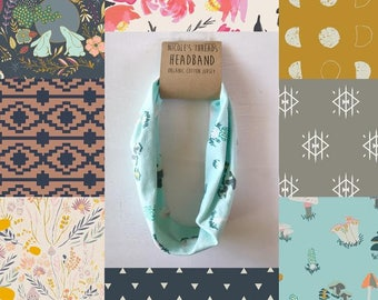 Headband - Organic Cotton Jersey - Choose from a variety of fabrics