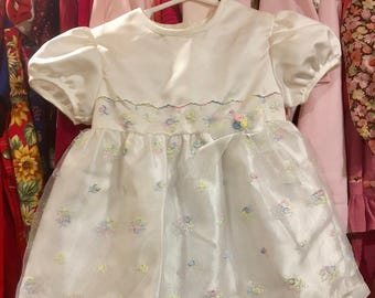 Vintage Party Dress 9/12 Months