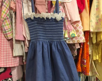 70s Smock Dress 3/4T