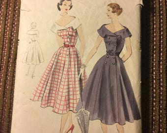 Vintage Vogue 1952 Dress Pattern