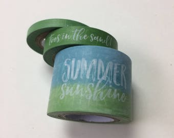 Washi tape 3 pack 10 yards each Green Mix - beach theme