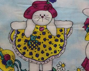"Daisy Kingdom Hoppy Spring Jelly Bean Junction dress border, 100% cotton 42""-44"" wide"