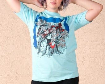 Vintage 90's native american T shirt