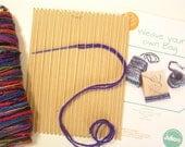 Card loom weaving kit to ...