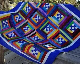 Blue Stripes Quilt