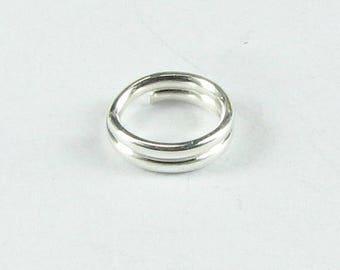 SHOP SALE 5mm Sterling Silver Split Rings (10 pieces)