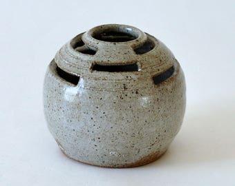 Modernist Studio Pottery Ikebana Vase