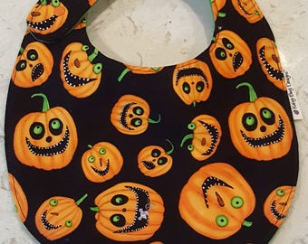 Funny Pumpkins Baby Toddler Bib, Halloween special
