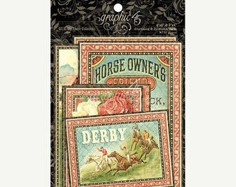 NOW ON SALE Graphic 45 Off to the Races Ephemera Pack