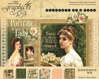 NOW ON SALE Graphic 45 Portrait of a Lady 12x12 Paper Pad