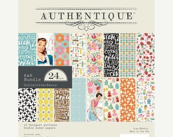 LOVE Authentique Saucy  6x6 paper pad for Scrapbooking