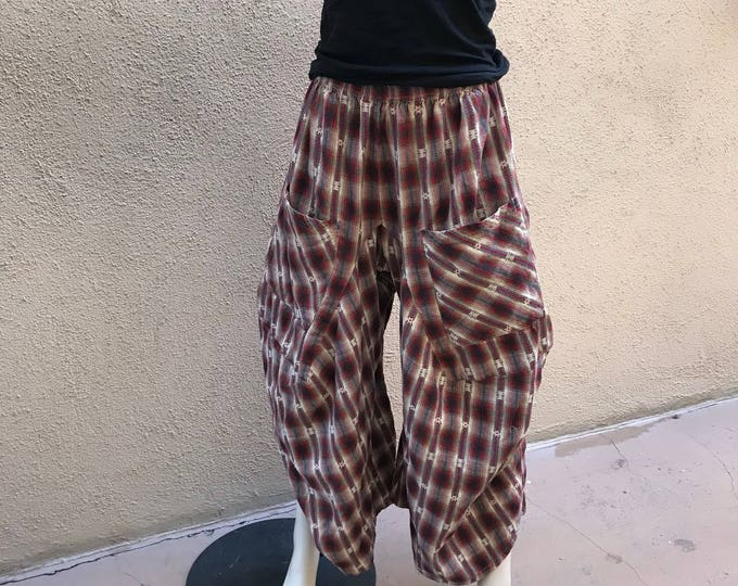 Red plaid lagenlook pant