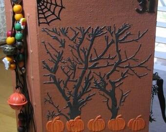Handmade Halloween Junk Journal Keepsake Memory Book Diary Notebook