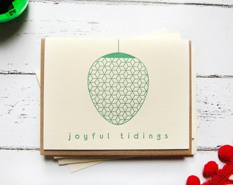 Joyful Tidings Letterpress Holiday Card Set of 5