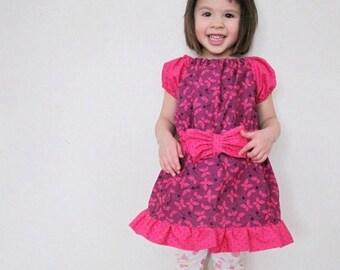 SALE Ruffled Peasant Dress PDF Sewing Pattern  sizes 0m - 12 girls PDF Instant