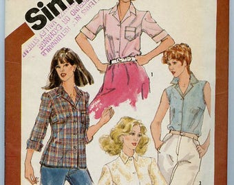 Simplicity Pattern 5685 - Blouse - 3 versions