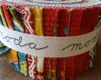 Moda Jelly roll, JOVIAL, lovely Christmas fabrics.
