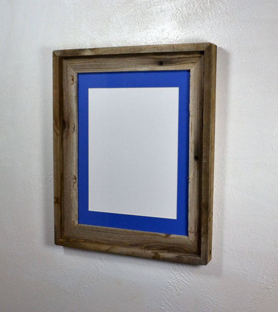 Picture Frame 8 5x11 Blue Mat Without Mat 11x14 From