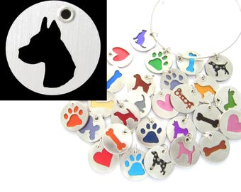 Great Dane Head Sterling Silver Necklace Pendant Charm - Lots of Colors