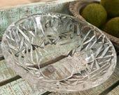 "Tiffany & Co Rock Cut Crystal 6"" Bowl Signed Textured Surface TYCAALAK"