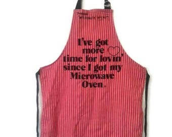 Vintage Now Designs Microwave Love Apron