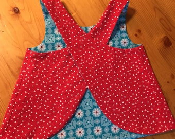 Pinafore Size 12M - blooms and berries pinafore