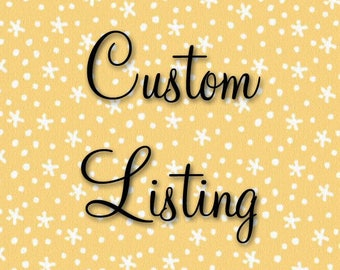 RESERVED LISTING FOR monicardinal